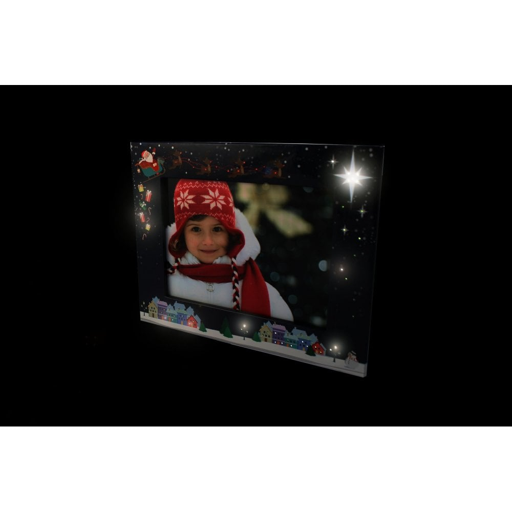 My Santa Light Up Frame Xmas Blue Photo Retailers From Dlk Photo Uk