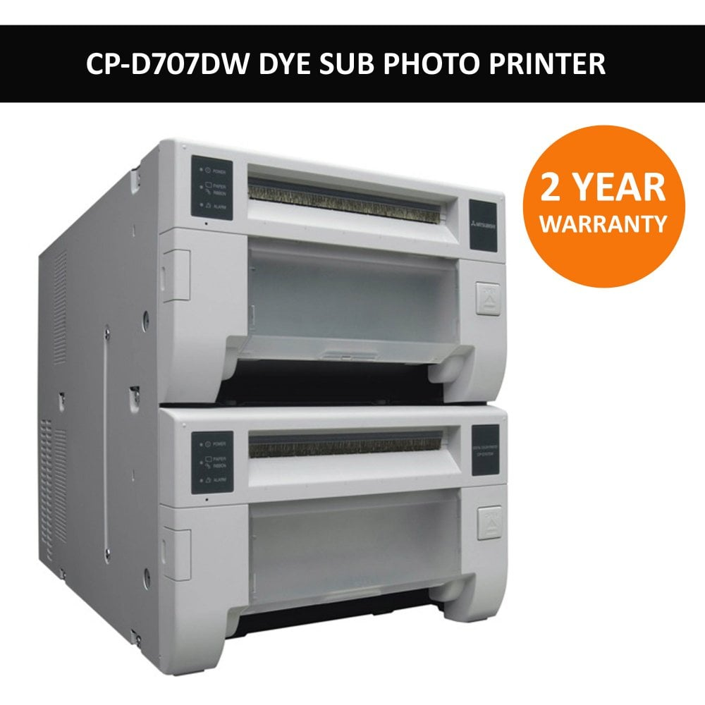 mitsubishi's bestselling cp-d707dw double deck dye-sub event printer