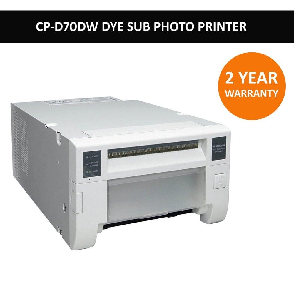 mitsubishi cp-d70dw dye-sublimation event photo printer - dlk photo